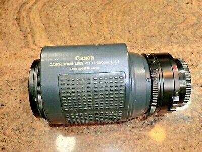 Canon ZOOM LENS AC 75-200mm 1:4.5 SLR 35Mm Camera Lens + Skylite 58MM Filter