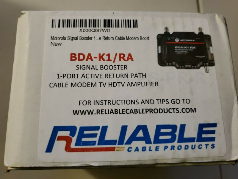 Motorola BDA-K4-RA  Signal Booster Amplifier  1-port  TV Modem Hdtv Arris