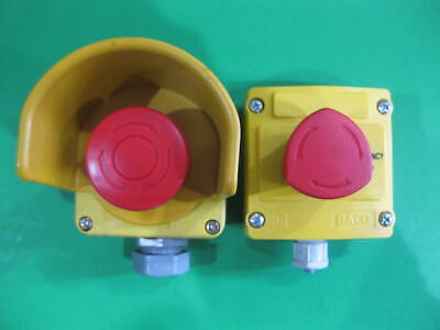 Emergency Stop Button 2 Units -- 1 Pair -- Used