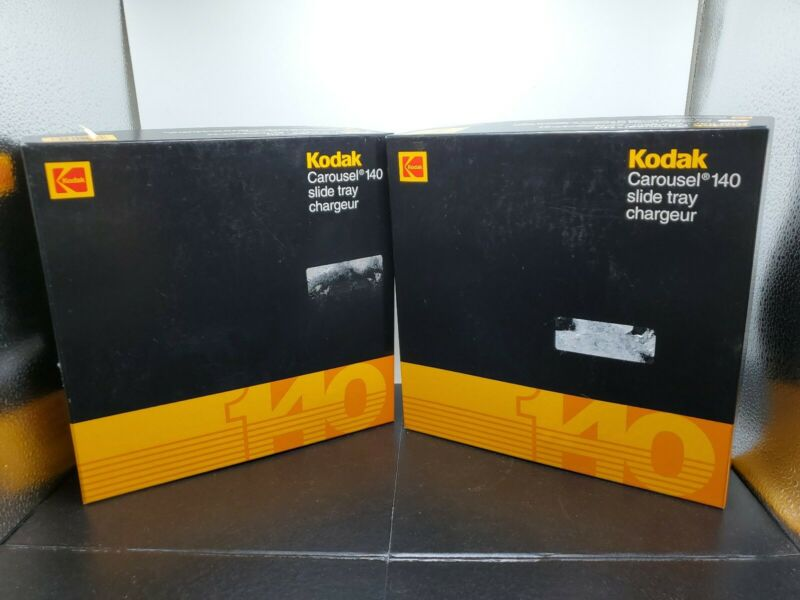 2 Kodak Genuine Carousel 140 Slide Trays