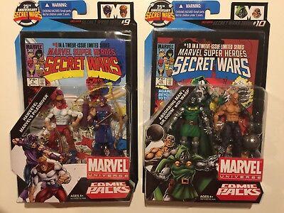 Marvel Universe Hawkeye Piledriver Absorbing Man Dr. Doom Wasp Secret Wars pack