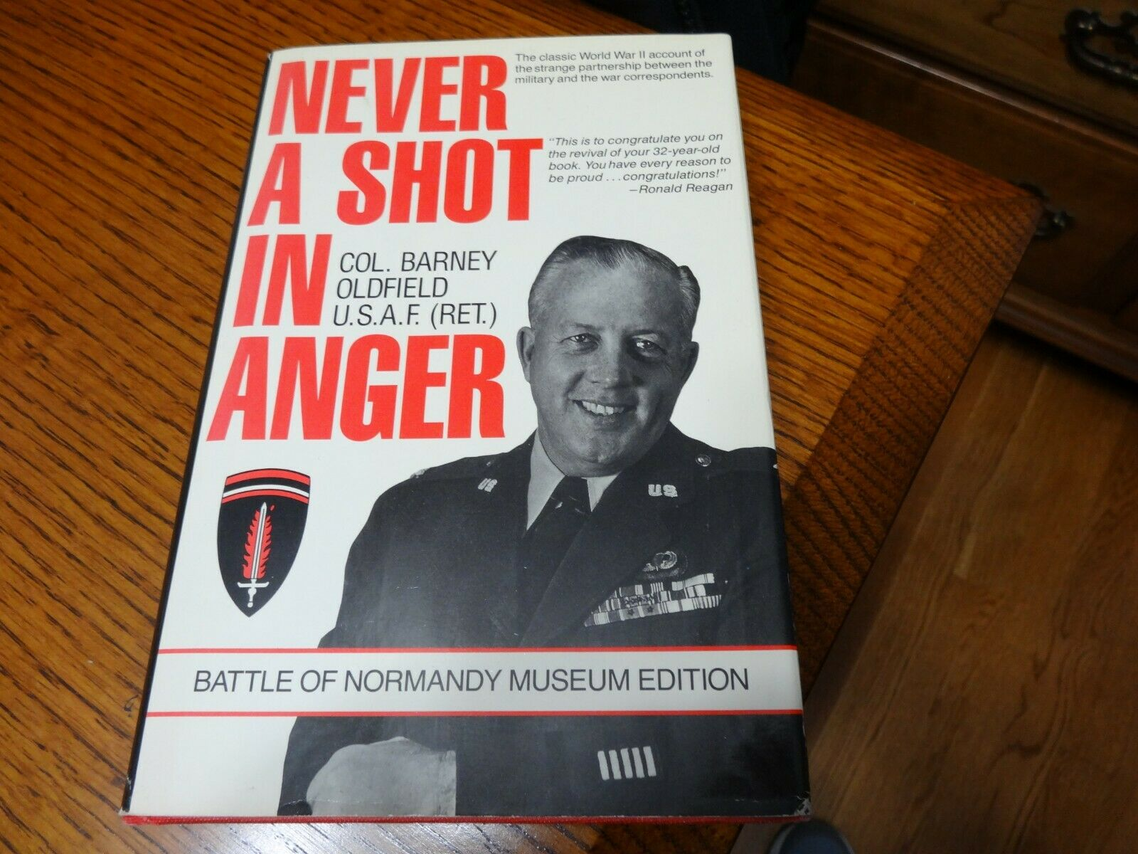 Signed Never A Shot In Anger Barney Oldfield Ww2 - $10.00
