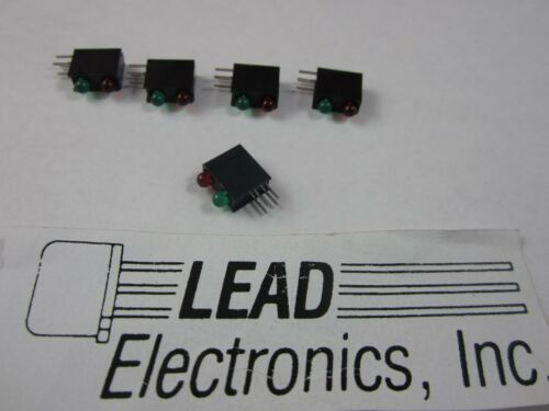 qty 5 DIALIGHT 553-0312 3mm RED/GREEN BI-LEVEL LED 5V RIGHT ANGLE  DIFFUSED