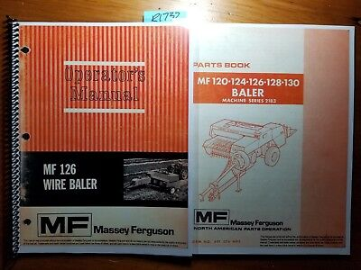 Massey Ferguson Mf 126 Mf126 Wire Baler Operator Manual 1448 203 M2 772 Parts