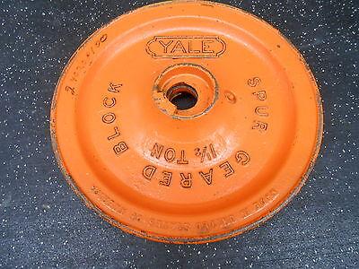 Yale 1 Ton Spur Geared Block Chain Hoist Hand Wheel 12.75 Diameter