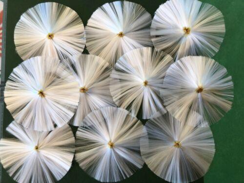 "10 pieces spun glass circles 4 1/2"" across HALO LOT vintage Christmas ornament"