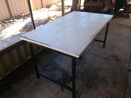 Steel frame table desk workbench
