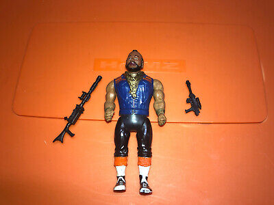VTG Cannell A Team Mr. T Action Figure Toy With Gun Weapon Accessories 1983