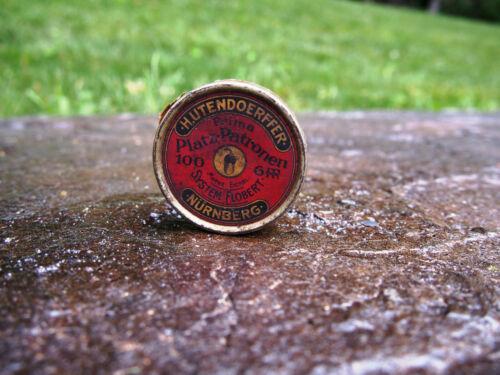 Vintage H.Utendoerffer Nürnberg Flobert-Platz-Patronen Pellet Tin Germany 6mm
