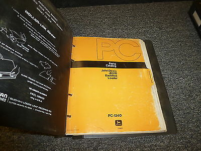 John Deere 510 Backhoe Loader Excavator Parts Catalog Manual Pc1240