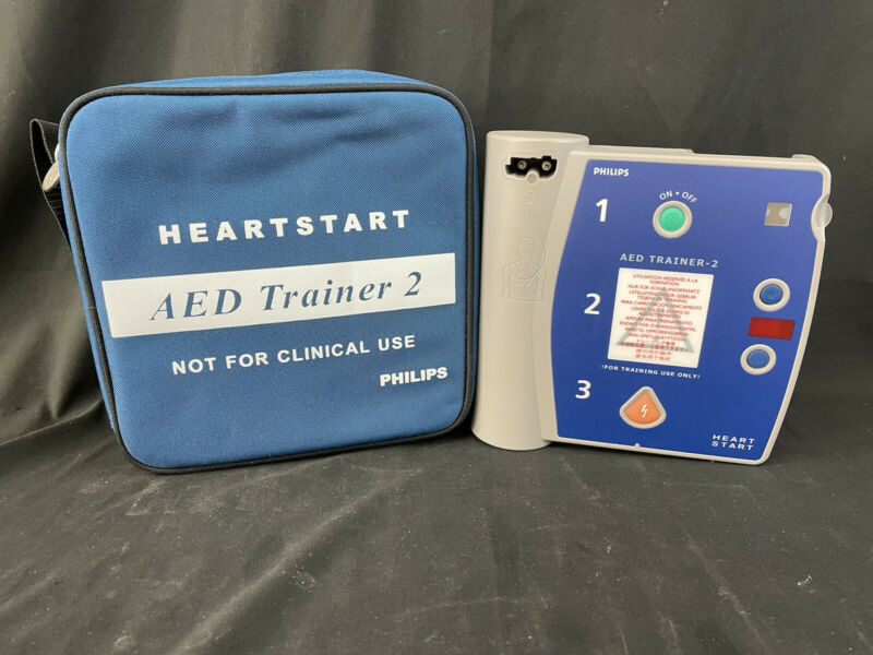 Heartstart Philips AED Trainer 2 M3752A Philips Medical Systems Case Trainer-2