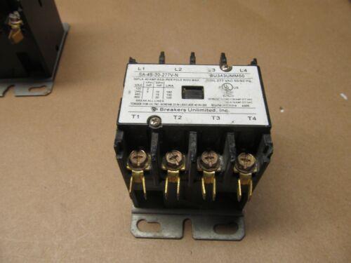 2- NEW 4 POLE 30 AMP CONTACTORS 480 V COILS    B-262
