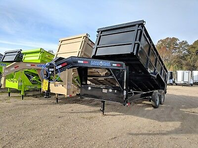 16 Ft Tandem Axle Gooseneck Dump Trailer--brand New--48 Sides Load Trail