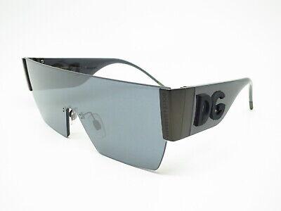 Authentic Dolce & Gabbana DG 2233 1286/6G Matte Dark Gunmetal Sunglasses (Dolce And Gabbana Mirror Sunglasses)