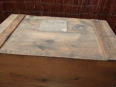 Madame Elise London Victorian Large Pine Trunk/ Packing Case. L & Y R c 1880