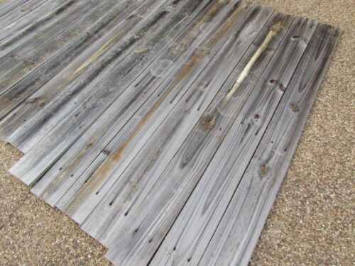 "60"" Weathered Barn Wood 15 Fence Boards Planks  Reclaimed Old Fence Wood Boards"