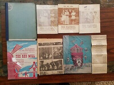 RARE 1945 The Red Mill Broadway ORIGINAL Script EDDIE FOY JR + 5 Programs & MORE