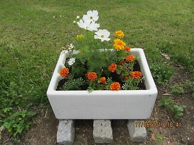 sink garden vintage ceramic not planted as in photo