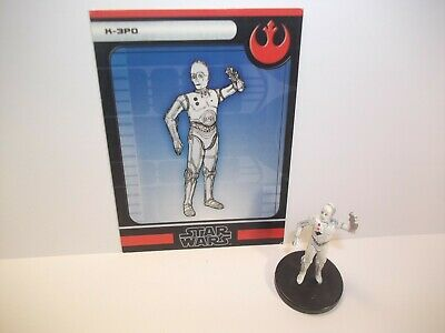 Star Wars Miniatures - K-3PO 12/60 + Card - Rare - Force Unleashed