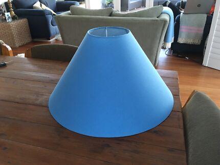 Medium/large size powder blue/duck egg blue lampshade