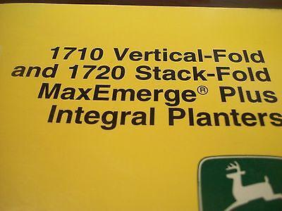 John Deere Operators Manual 7200 Maxemerge2 Drawn Cons. 6row Wide8row Nar. Pla