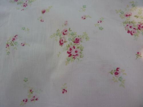Rachel Ashwell Shabby Chic Rosebury Raspberry Roses on Pink Cotton Fabric  BTY