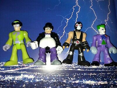 IMAGINEXT DC VILLAINS BUNDLE of 4 FIGURES Penguin, Joker, Riddler and Bane