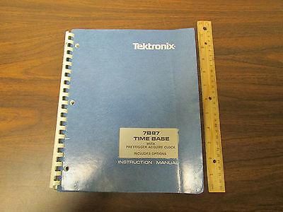 Tektronix 7b87 Oscilloscope Plugin Time Base W Pretrigger Acquire Clock Manual