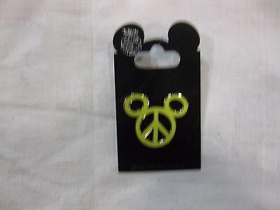 Selten Disney Pin Grün Mickey Ohren Peace Zeichen von Walt Disney World pin250 ()