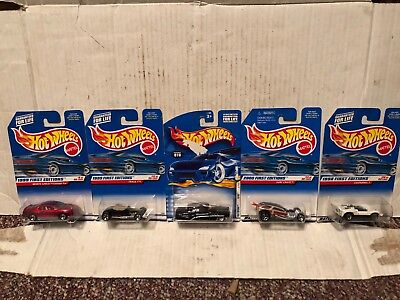 5 Hot Wheels First Editions Chaparral Track T Monte Carlo Surf Crate So Fine NEW