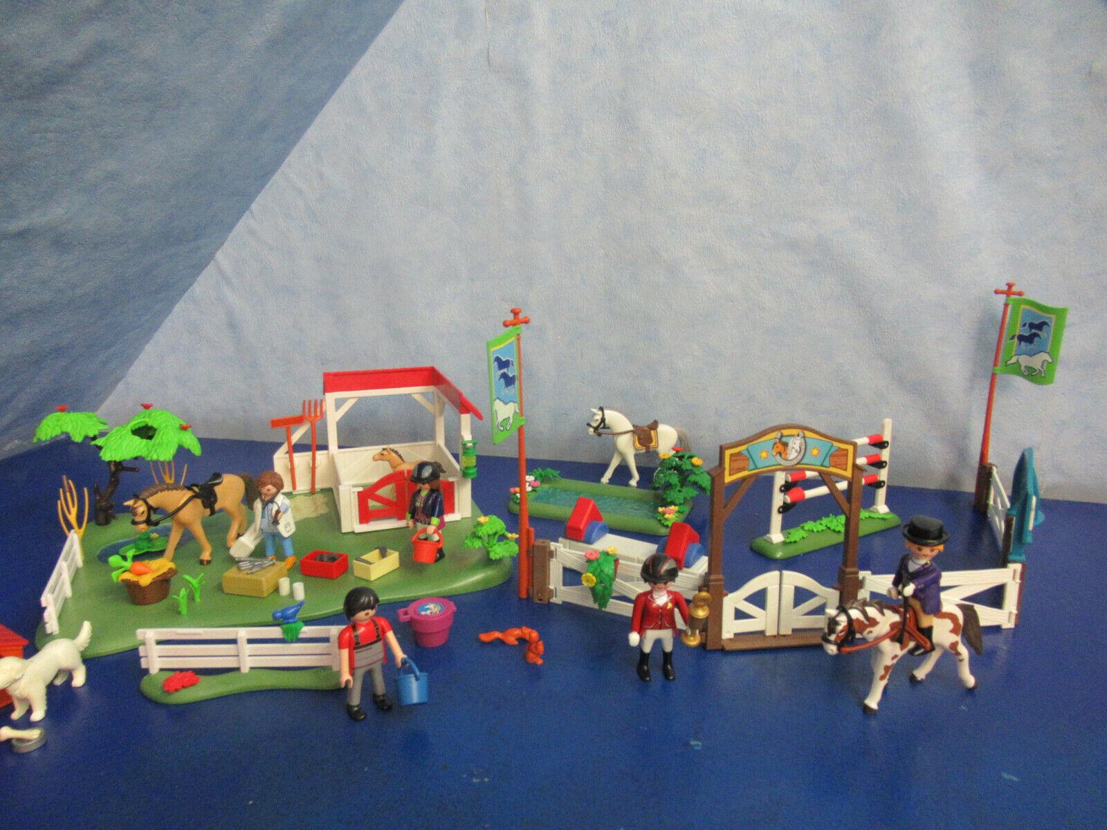 6147 6930 Reitturnier Pferdekoppel Tiere zu 4190 5221 Reiterhof Playmobil 6398