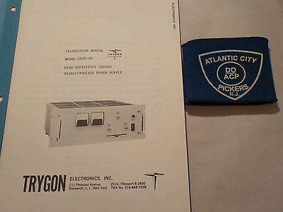 Trygon Sr36-40 High Efficiency Series Power Supply Instruction Manual