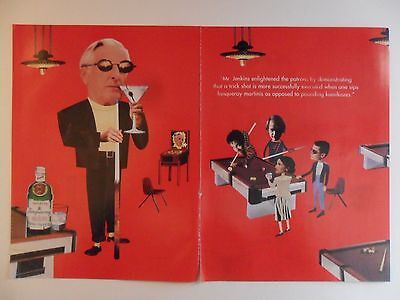 1994 Print Ad Tanqueray Gin Distilled English ~ Mr. Jenkins Pool Table Billiards