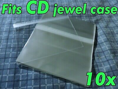 10x Cd Standard Jewel Case Resealable Sleeves Protective Plastic Sleeve Opp Bags