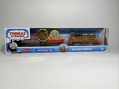 Thomas the Tank Engine Golden 75th Motorized Train Friends Set Fisher Price NEW
