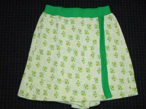 NOS Vtg 70s Beeline Fashions Poly Cotton Stretch Skort Green Yellow Bees Sz 12