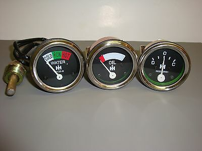 Farmall Ih Gauge Set Amp Oil Temperature H Sh M Sm Smd Smta I O W4 Sw Series