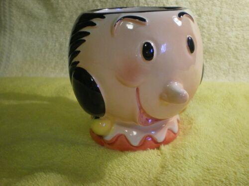 Vintage 3D 1980 King Features Olive Oyl  Coffee Mug Ceramic Cup Excellent FR/SHP
