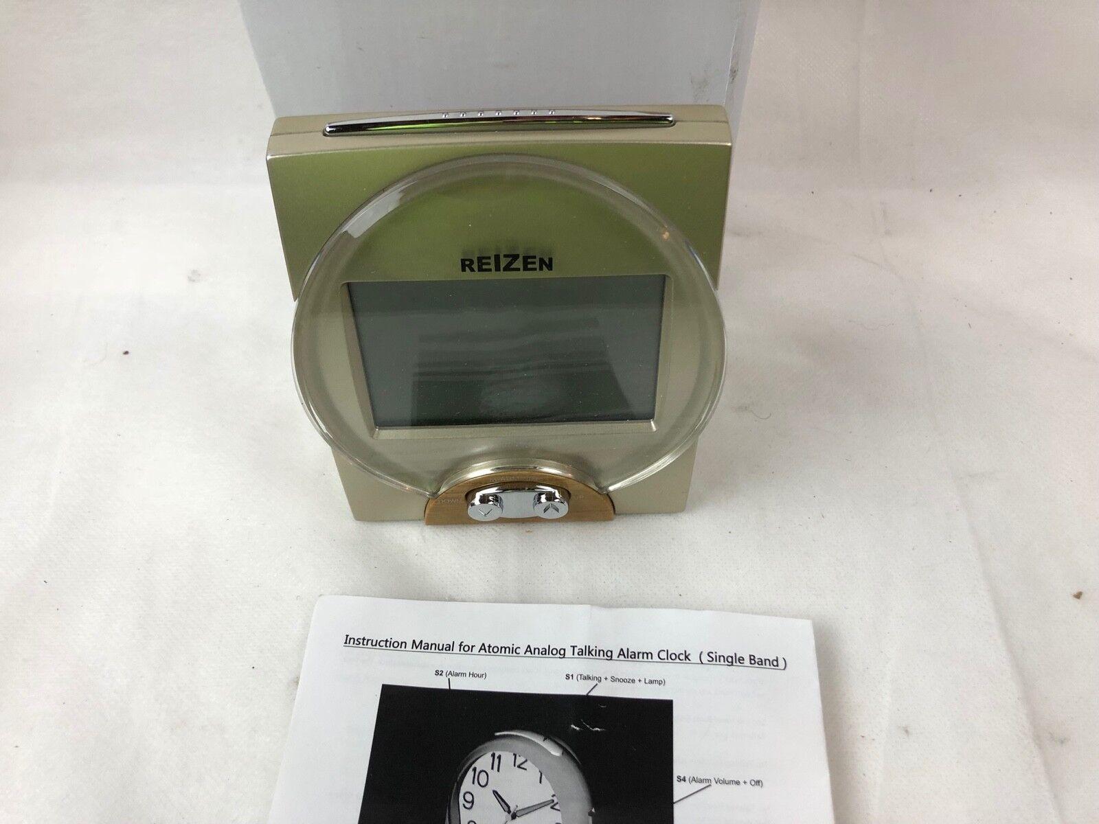 REIZEN Talking Atomic Alarm Clock Battery Operated New in Box