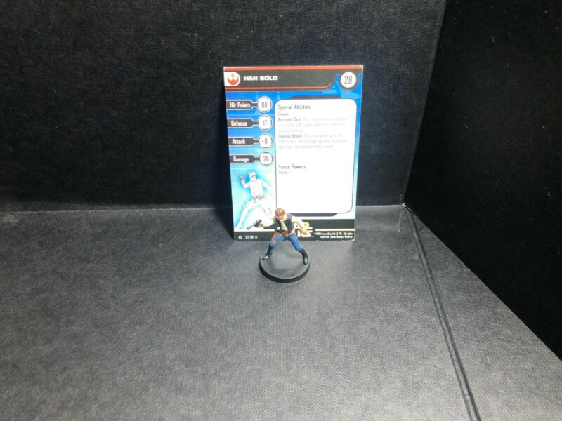 Star Wars Miniatures Han Solo Rebel Storm RS w/ Card mini RPG Legion Assault