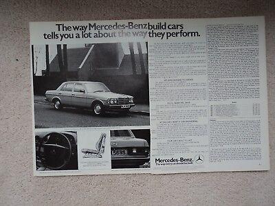 Mercedes-Benz 200  -  Advertisement  - 1978