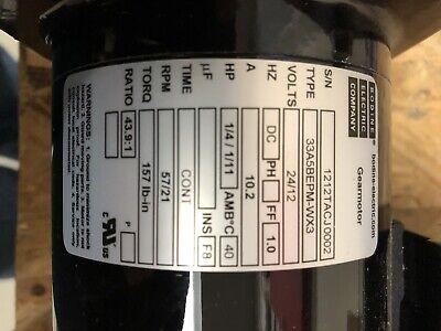 Bodine Gear Motor 2412 Volt 43.1 To 1 Ratio