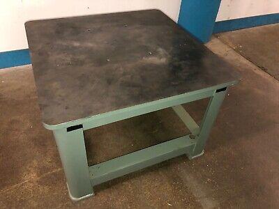 Solid Steel 510lbs 36x36x25h Industrial Machine Base Steel Welding Work Table