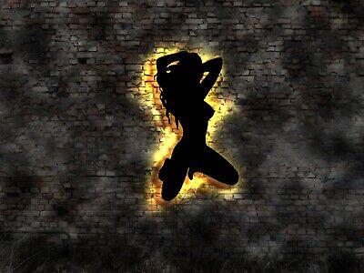 LED  Wandbild Table Dance Gogo Hot Girl no Neon sign UV Schwarzlicht Neonreklame ()