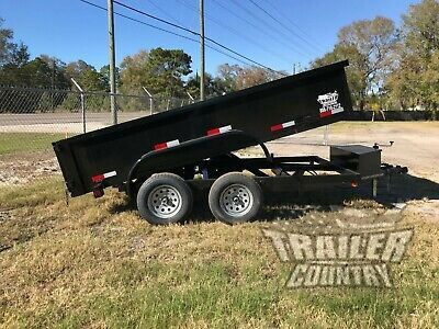 New 2021 6x12 6 X 12 7k Gvwr Hydraulic Dump Trailer Equipment Hauler 24 Sides