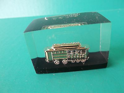 mini cable car paperweight