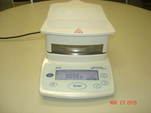 DENVER INSTRUMENT MODEL IR-60 ELECTRONIC MOISTURE ANALYZER W/ MANUAL CLEAN ! !