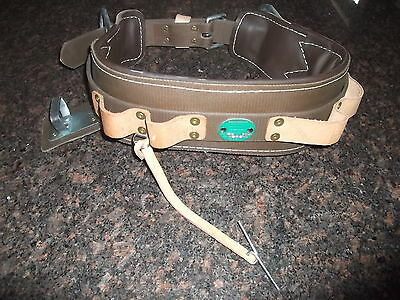 Buckingham Drs Utility Lineworker Tree Climber Double 2 D Ring Body Belt Size 26