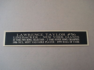 Lawrence Taylor Giants Nameplate For A Football Jersey Display Case 1.5 X 8