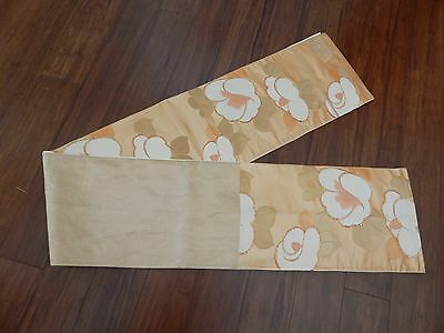 Antique/Vintage Japanese Silk Kimono Obi Excellent Condition Gold, Orange, Tan